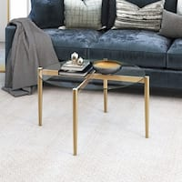 Kadmos Mid-Century Glam Gold Metal/Glass Coffee Table
