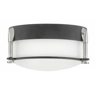 Hinkley Colbin LED Flush Mount in Aged Zinc