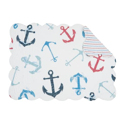 Nautical Crew Coastal Cotton Quilted Placemat Set of 6