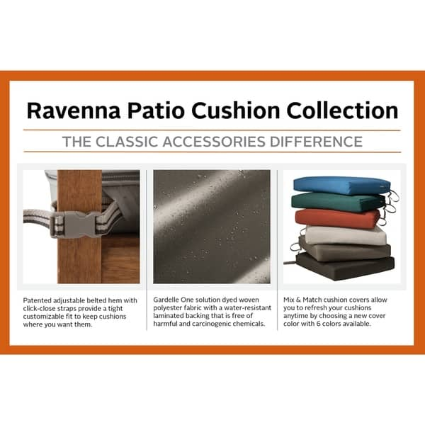 Excellent Shop Ravenna Patio Back Cushion Slip Cover 25L X 22W X 4 Theyellowbook Wood Chair Design Ideas Theyellowbookinfo
