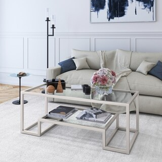 Athena Glam Geometric Coffee Table (Optional Finishes)
