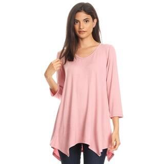 723948dd163237 Buy Pink, V-Neck 3/4 Sleeve Shirts Online at Overstock.com | Our Best Tops  Deals
