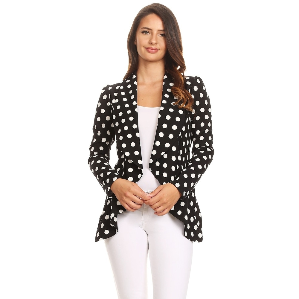 Womens Solid Color Loose Fit Draped Front Blazer Jacket by  Reviews