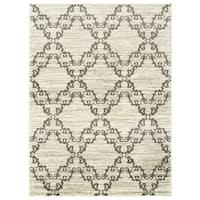 "Willow Lattice Filigree Ivory/ Grey Area Rug (7'10 X 10') - 7'10"" x 10'"