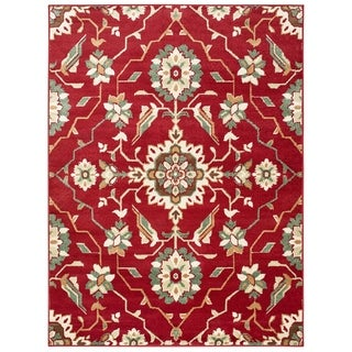 """Copper Grove Ogulin Borderless Red and Ivory Area Rug - 7'10 x 10 - 7'10"""" x 10'"""