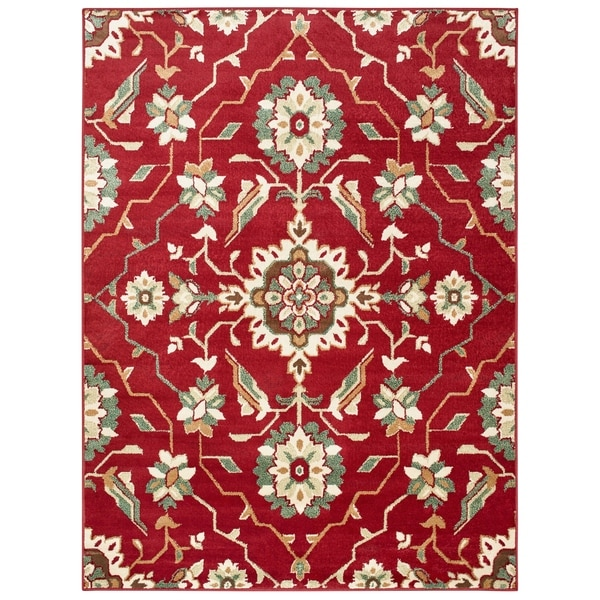 """Copper Grove Ogulin Borderless Red and Ivory Area Rug - 5'3 x 7' - 5'3"""" x 7'"""