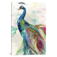"""iCanvas """"Peacock"""" by Color Bakery Canvas Print"""