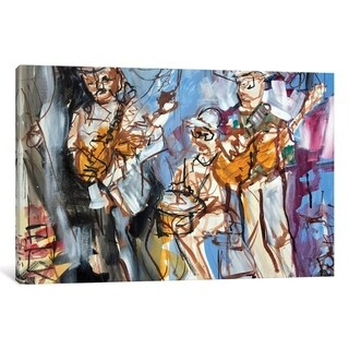 """iCanvas """"New Orleans Musicians I"""" by Erin McGee Ferrell Canvas Print"""