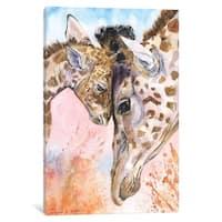 "iCanvas ""Giraffe Family II"" by George Dyachenko Canvas Print"
