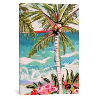 """iCanvas """"Palm Tree Whimsy II"""" by Karen Fields Canvas Print"""