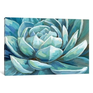 """iCanvas """"Cerulean Succulent"""" by Nan Canvas Print"""