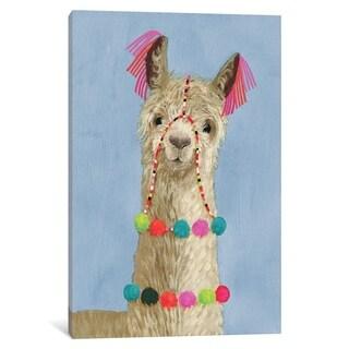 """iCanvas """"Adorned Llama III"""" by Victoria Borges Canvas Print"""