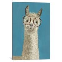 """iCanvas """"Llama Specs III"""" by Victoria Borges Canvas Print"""