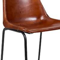 Wanderloot Mandela Brown Leather Bucket Seat Dining Chair