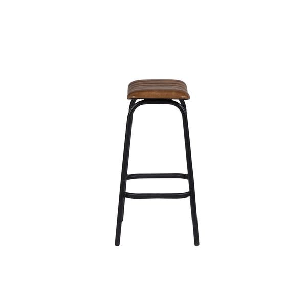 Groovy Shop Handmade Oscar Leather Bar Stool 30 X 12 X 15 Gamerscity Chair Design For Home Gamerscityorg