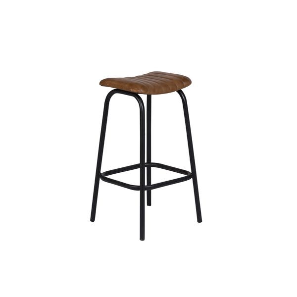 Peachy Shop Handmade Oscar Leather Bar Stool 30 X 12 X 15 Gamerscity Chair Design For Home Gamerscityorg