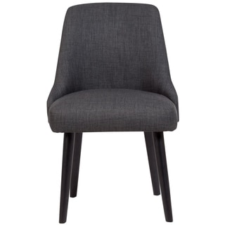 "Porter Designs Olaf Mid-Century Modern Upholstered Dining Chair, Dark Gray - 33""H x 20""D x 21""W"
