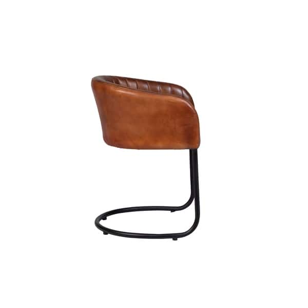 Pleasing Shop Handmade Dexter Cognac Leather And Metal Dining Chair Ibusinesslaw Wood Chair Design Ideas Ibusinesslaworg
