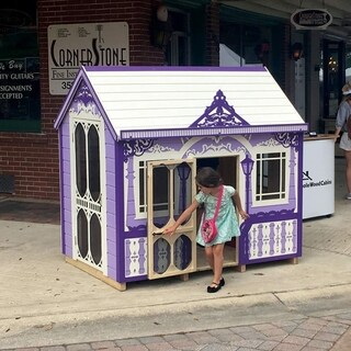 Handcrafted and furnished playhouse Classy Vicky (6x4 ft)