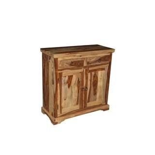 "Handmade Taos Sheesham Wood Sideboard - 35.5"" x 15.75"" x 35.5"" (India)"