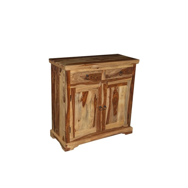 "Handmade Taos Sheesham Wood Sideboard - 35.5"" x 15.75"" x 35.5"" (India)"