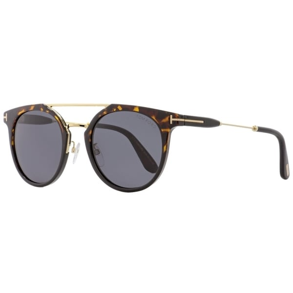 b0ce452f93 Tom Ford TF480D 52A Womens Havana Black Gold 52 mm Sunglasses