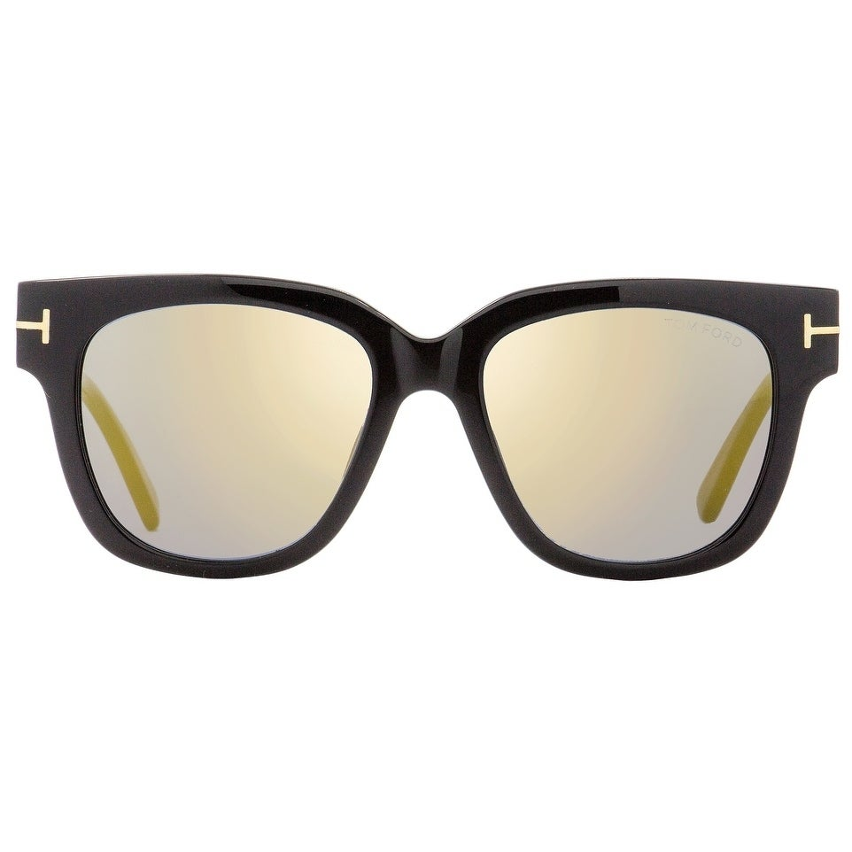 55b496c8c3c0e Shop Tom Ford TF436 Tracy 01C Womens Black/Gold 53 mm Sunglasses - Free  Shipping Today - Overstock - 22513663