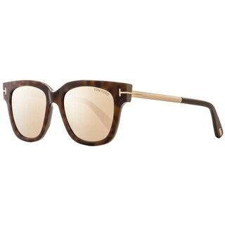 Tom Ford TF436 Tracy 56G Womens Havana/Gold/Gray 53 mm Sunglasses