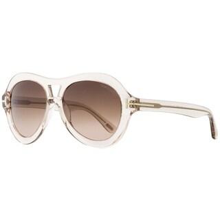Tom Ford TF514 Isla 74S Womens Transparent Rose 56 mm Sunglasses - Transparent Rose