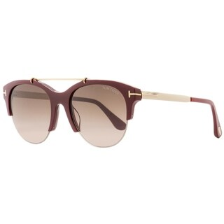 Tom Ford TF517 Adrenne 69T Womens Burgundy/Gold 55 mm Sunglasses