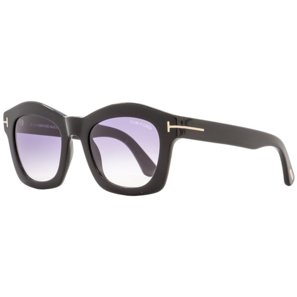 8e39c30dfef0 Shop Tom Ford TF431 Greta 01Z Womens Black Gold 50 mm Sunglasses - Free  Shipping Today - Overstock - 22513673