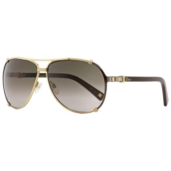 8bb196a849 Shop Dior Chicago 2 STR UPXHA Womens Dark Brown Gold 63 mm Sunglasses -  Dark Brown Gold - Free Shipping Today - Overstock - 22513674