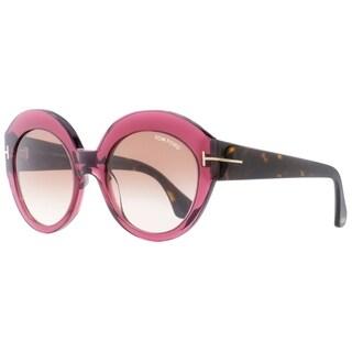 Tom Ford TF533 Rachel 71F Womens Burgundy/Havana 54 mm Sunglasses