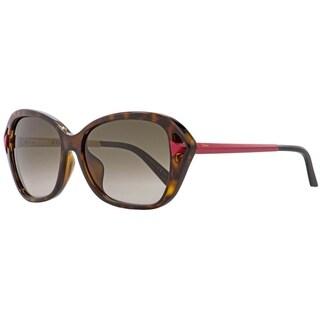 Dior Chromatic F 6LYHA Womens Havana/Matte Red 56 mm Sunglasses - havana/matte red