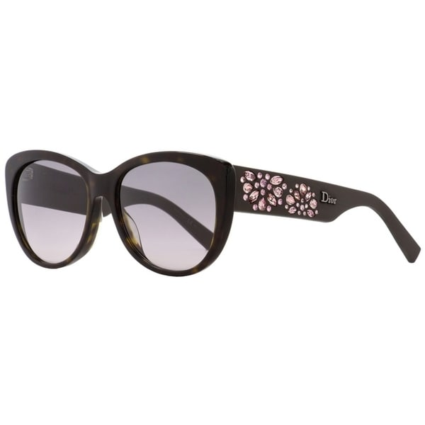 9af8db3d2291 Shop Dior Inedite B0JEU Womens Dark Havana Brown 56 mm Sunglasses - dark  havana brown - Free Shipping Today - Overstock.com - 22513687