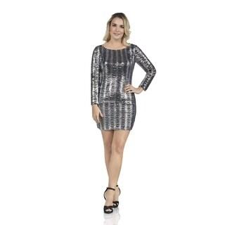 Boatneck Metallic Dress