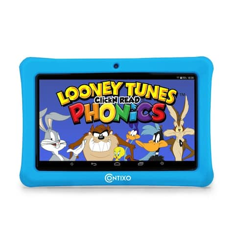 "Contixo Kids Tablet K1 7"" Touch Screen Display Bluetooth WiFi Camera - Light Blue"