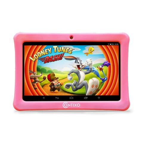 "Contixo Kids Tablet K1 7"" Touch Screen Display Bluetooth WiFi Camera - Pink"