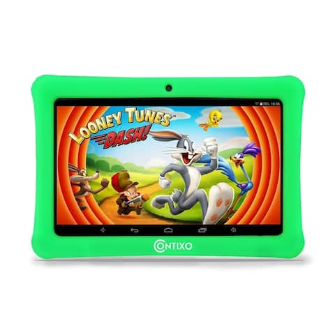 "Contixo Kids Tablet K1 7"" Touch Screen Display Bluetooth WiFi Camera - Green"