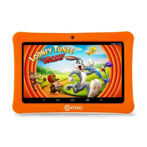 "Contixo Kids Tablet K1 7"" Touch Screen Display Bluetooth WiFi Camera - Orange"