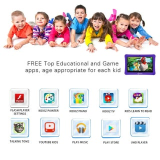 "Contixo Kids Tablet K1 7"" Touch Screen Display Bluetooth WiFi Camera - Purple"