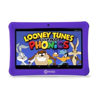 "Contixo Kids Tablet K1 7"" Touch Screen Display Bluetooth WiFi Camera - Purple"