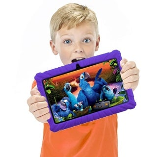 "Contixo Kids Tablet K2 7"" Touch Screen Display Bluetooth WiFi Camera - Purple."