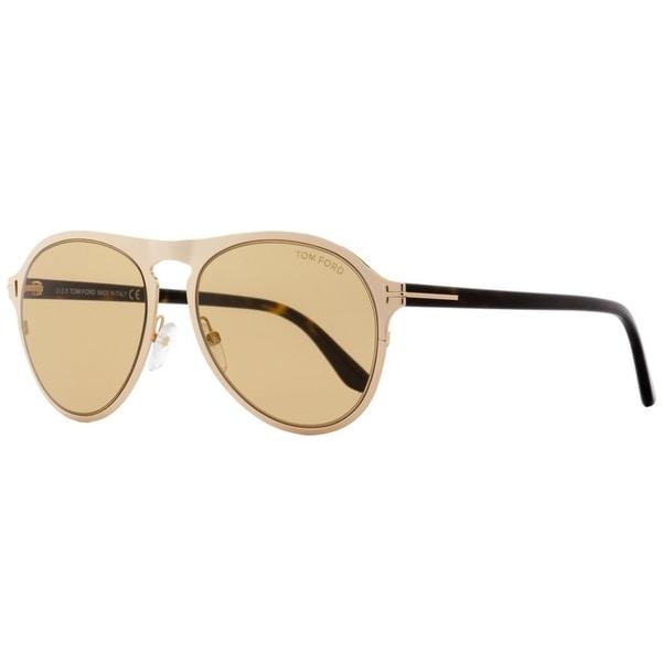 d964f4434eba3 Shop Tom Ford TF525 Bradburry 28E Unisex Gold Havana 56 mm Sunglasses - Free  Shipping Today - Overstock - 22513912