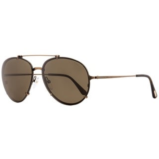 Tom Ford TF527 Dickon 49J Unisex Antique Brown 61 mm Sunglasses - Antique Brown