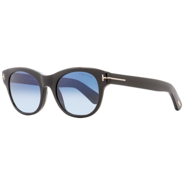 69426a5677 Tom Ford TF532 Ally 01W Unisex Shiny Black Gold 51 mm Sunglasses - shiny  black