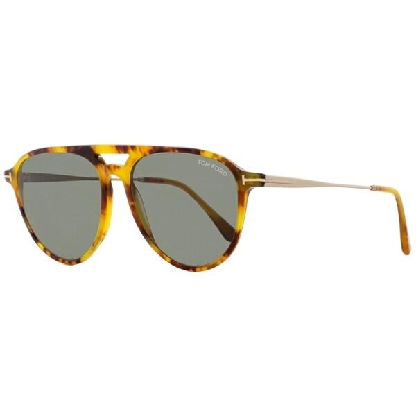 78df2264aeaa Shop Tom Ford TF587 Carlo-02 55N Unisex Light Havana Gold 58 mm Sunglasses  - light havana gold - Free Shipping Today - Overstock - 22513917
