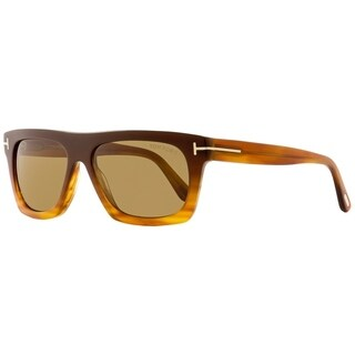 Tom Ford TF592 Ernesto-02 50E Unisex Brown/Blonde Havana 55 mm Sunglasses - brown/blonde havana