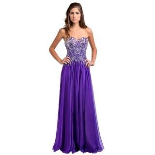 Gliterry Strapless Nabdeau Shaped gown