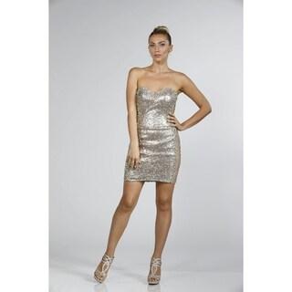 Glamorous Sequin-Spangled Cocktail Dress